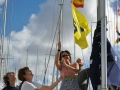 HSC support team hoist club flag