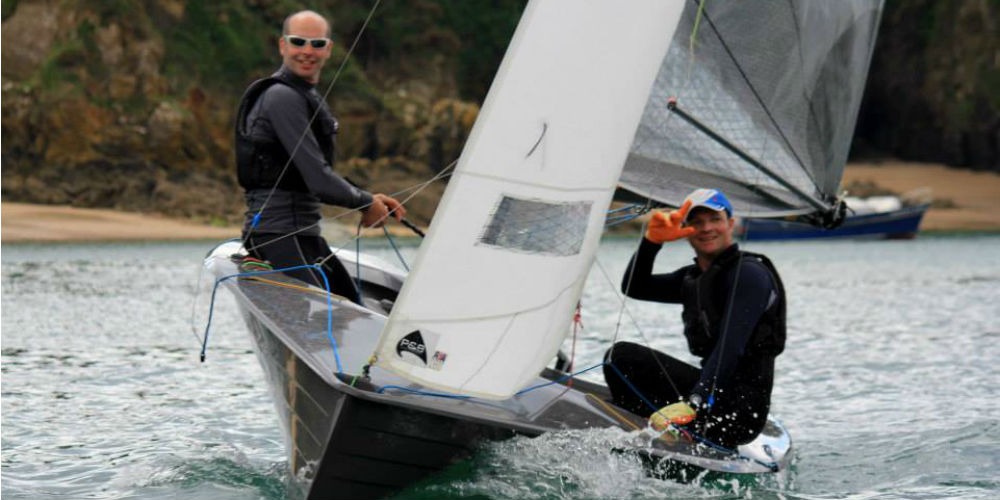 Hampton sailing club at Salcombe week for Merlin Rockets
